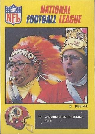 Redskins 1988 Monty Gum UK Stickers