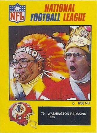 Redskins 1988 Monty Gum UK Cards