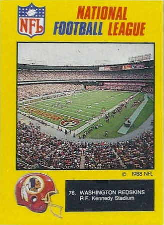 Redskins 1988 Monty Gum UK Cards