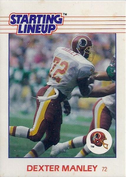 Dexter Manley 1988 Starting Lineup Cards