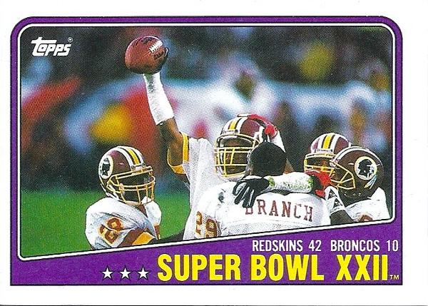 1988 Topps Super Bowl XXII