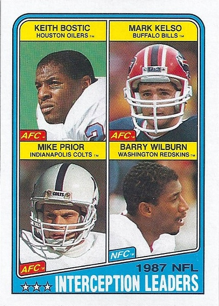 Interception Leaders 1988 Topps Barry Wilburn