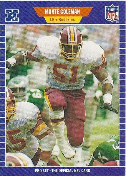 Monte Coleman 1989 Pro Set