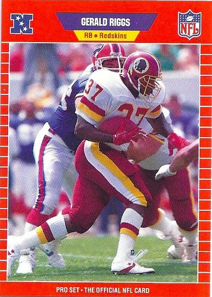Gerald Riggs 1989 Pro Set