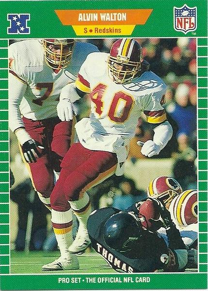 Alvin Walton 1989 Pro Set