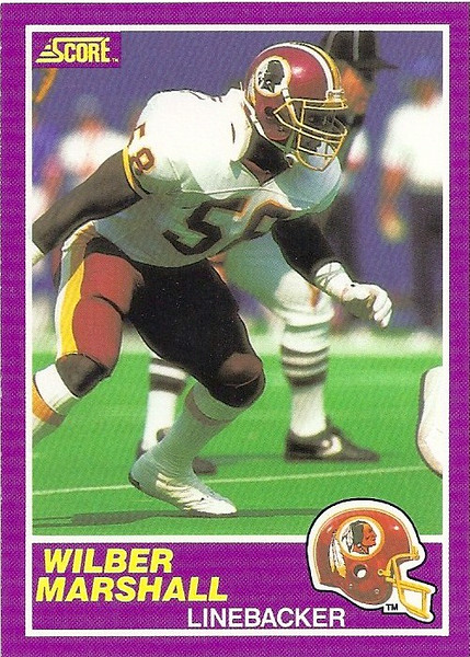 Wilber Marshall 1989 Score Supplemental