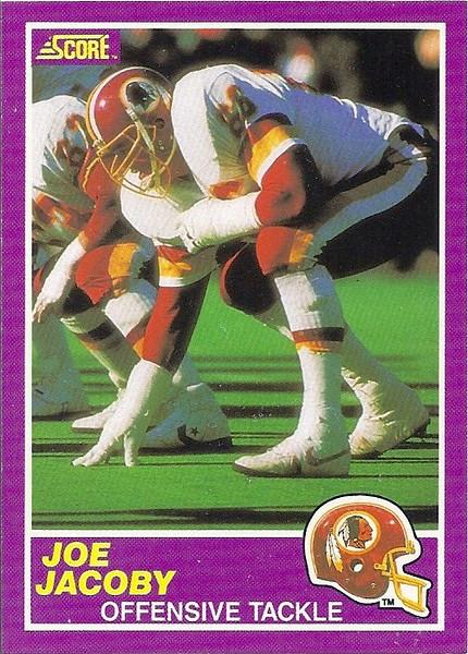 Joe Jacoby 1989 Score Supplemental