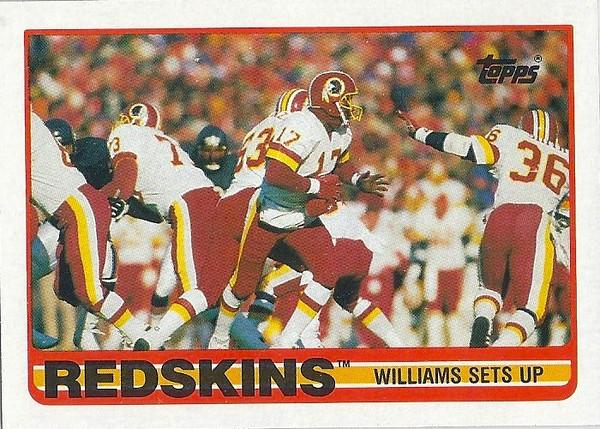 Redskins Team Card 1989 Topps