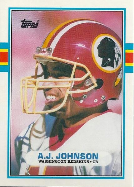 AJ Johnson 1989 Topps