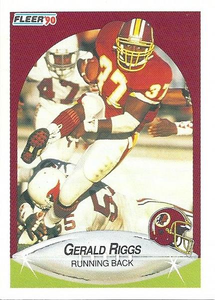 Gerald Riggs 1990 Fleer