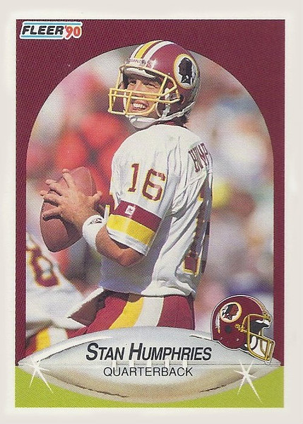 Stan Humphries 1990 Fleer Update