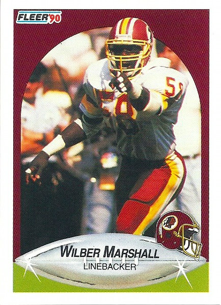 Wilber Marshall 1990 Fleer