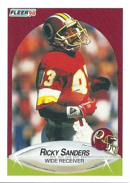 Ricky Sanders 1990 Fleer
