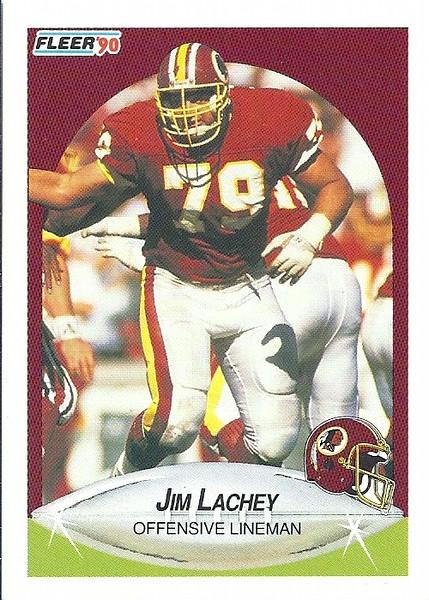 Jim Lachey 1990 Fleer