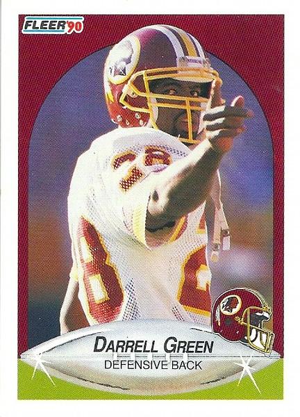 Darrell Green 1990 Fleer