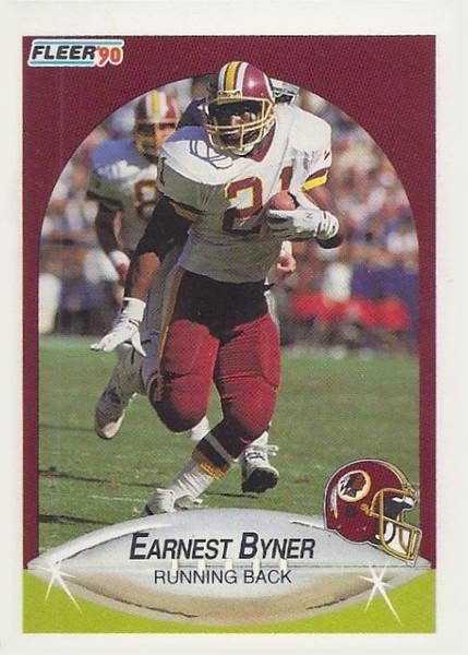 Earnest Byner 1990 Fleer Update