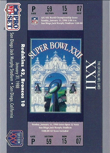 1990 Pro Set Super Bowl XXV