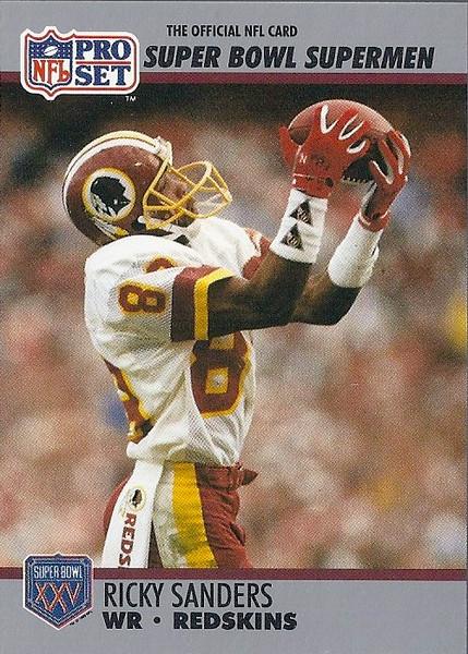 Ricky Sanders 1990 Pro Set Super Bowl XXV