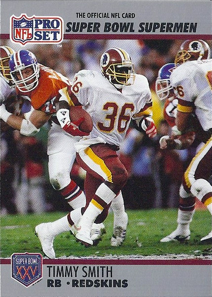 Timmy Smith 1990 Pro Set Super Bowl XXV