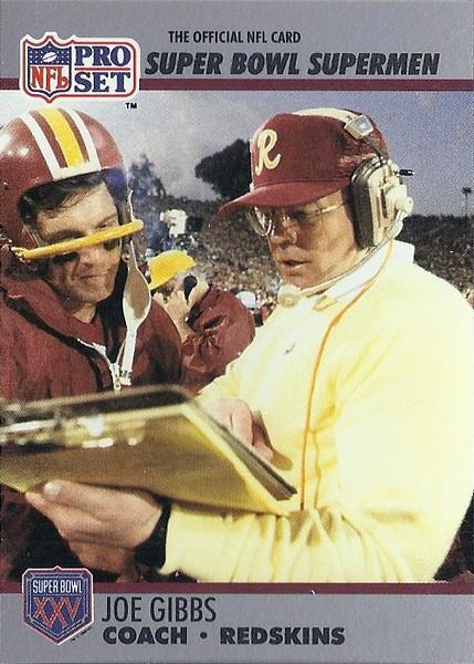 Joe Gibbs 1990 Pro Set Super Bowl XXV