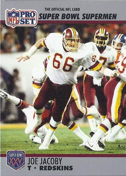 Joe Jacoby 1990 Pro Set Super Bowl XXV