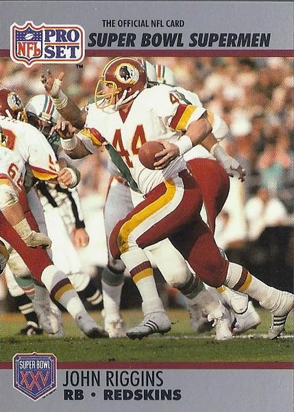 John Riggins 1990 Pro Set Super Bowl XXV