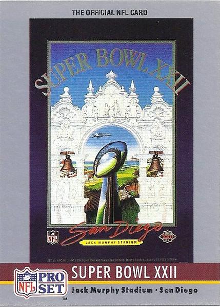 Super Bowl XXII 1990 Pro Set