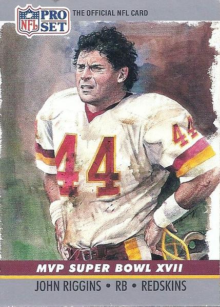 John Riggins Super Bowl MVP 1990 Pro Set