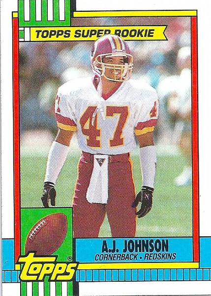 AJ Johnson 1990 Topps