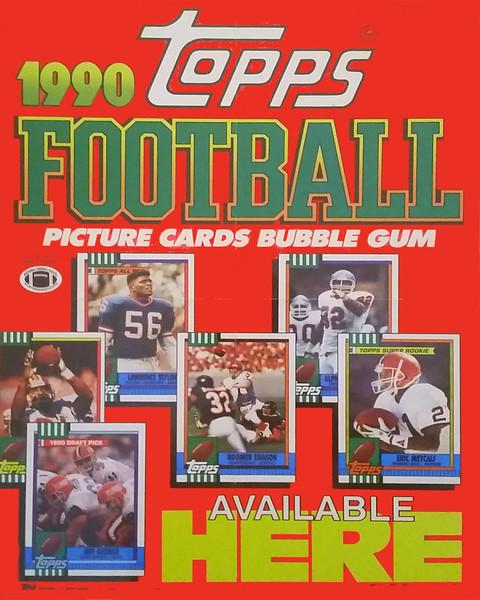 1990 Topps Football Promo Poster