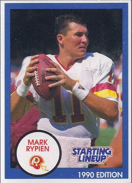 1990 Starting Lineup Cards Mark Rypien