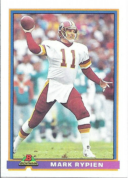 Mark Rypien 1991 Bowman