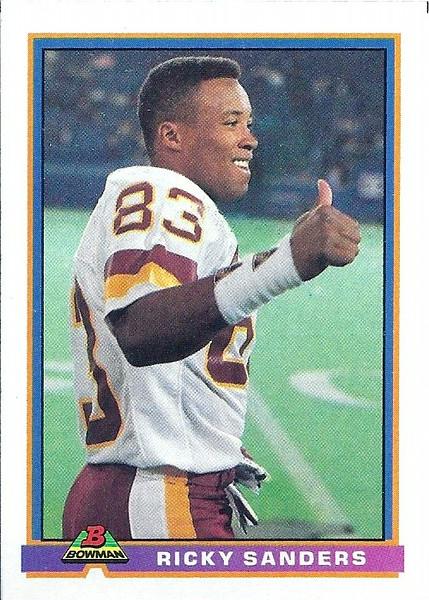 Ricky Sanders 1991 Bowman