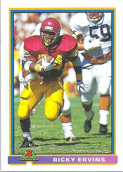 Ricky Ervins 1991 Bowman