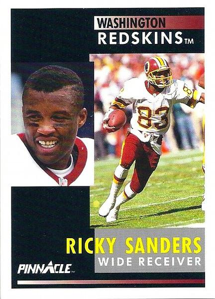 Ricky Sanders 1991 Pinnacle
