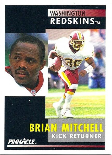 Brian Mitchell 1991 Pinnacle