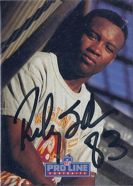 Ricky Sanders 1991 Pro Line Portraits Autographs