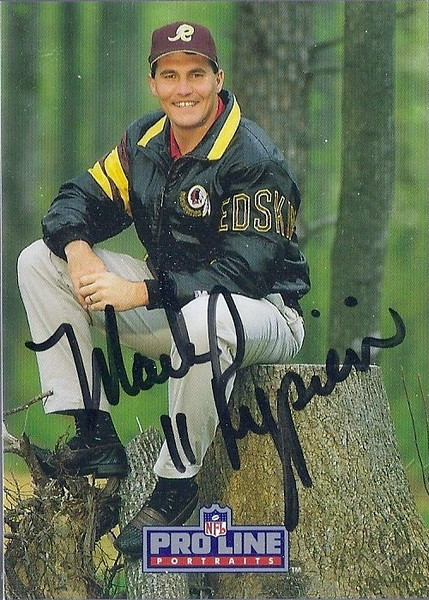 Mark Rypien 1991 Pro Line Portraits Autographs