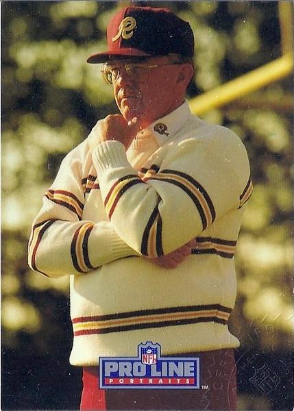 Joe Gibbs 1991 Pro Line Portraits Autographs
