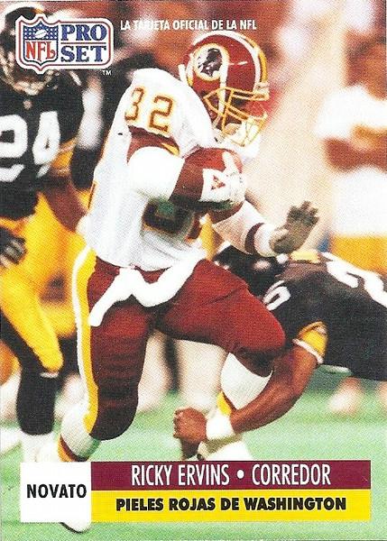 Ricky Ervins 1991 Pro Set Spanish