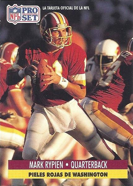 Mark Rypien 1991 Pro Set Spanish