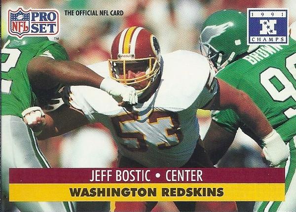 Jeff Bostic 1991 Pro Set Super Bowl XXVI