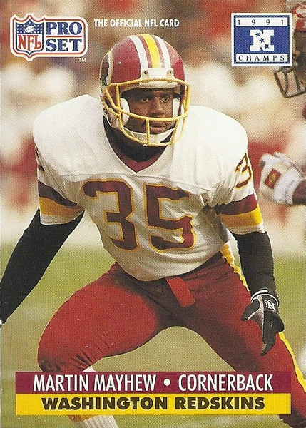 Martin Mayhew 1991 Pro Set Super Bowl XXVI
