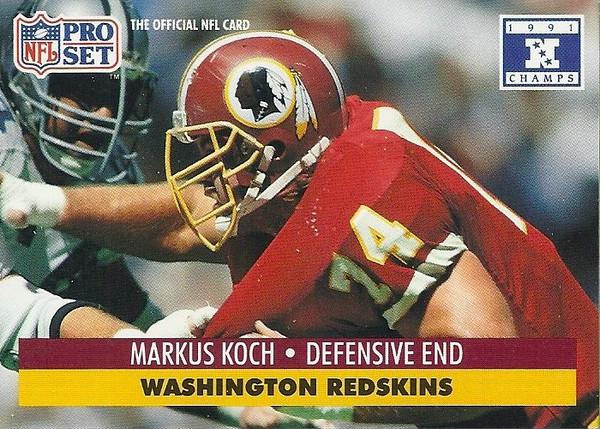 Markus Koch 1991 Pro Set Super Bowl XXVI