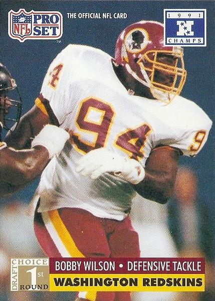 Bobby Wilson 1991 Pro Set Super Bowl XXVI