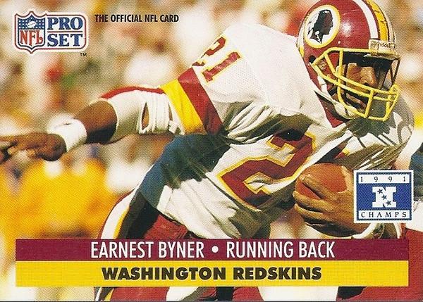 Earnest Byner 1991 Pro Set Super Bowl XXVI