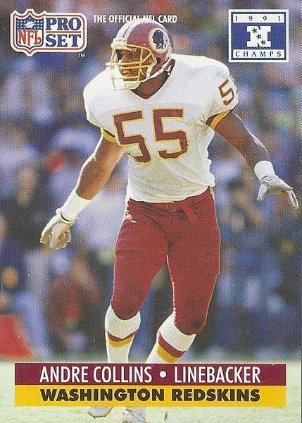 Andre Collins 1991 Pro Set Super Bowl XXVI