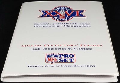 1991 Pro Set Super Bowl XXVI Set Album