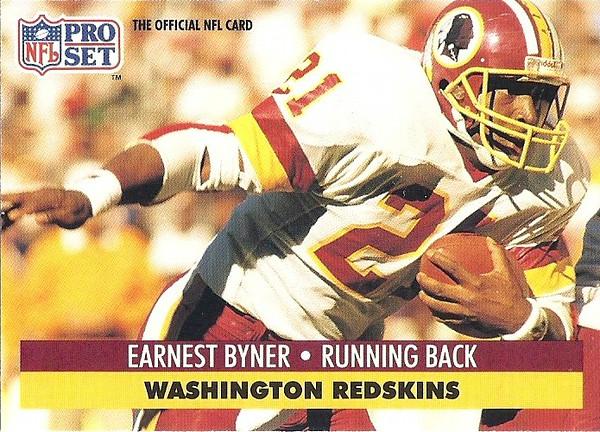 Earnest Byner 1991 Pro Set