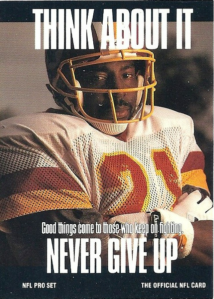 "Earnest Byner ""Think About It"" 1991 Pro Set"